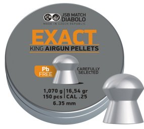 JSB EXACT KING DIABOLO LEAD FREE, 6,35MM - 1,070G